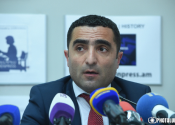 Governor of Kotayk Province Romanos Petrosyan gave a press conference at 'Armenpress' state news agency