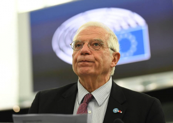 epa08127806 Josep Borrell, High Representative of the EU for Foreign Affairs and Security Policy, delivers his speech at the debate on the consequences of the latest confrontation between the US and Iran at the European Parliament in Strasbourg, France, 14 January 2020.  EPA-EFE/PATRICK SEEGER