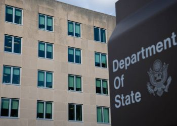 A general view of the U.S. State Department in Washington, D.C., on November 17, 2020, amid the coronavirus pandemic. As President Donald Trump continues to refuse to concede defeat in the recent Presidential Election and his administration denies access to necessary government information and funding to the Biden Transition team, confirmed COVID-19 cases continued dramatically rising across the nation. (Graeme Sloan/Sipa USA)No Use UK. No Use Germany.